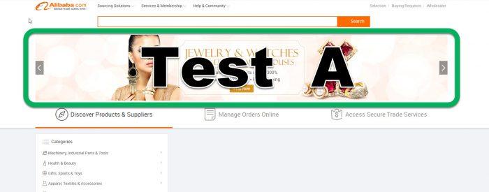 AB test Alibaba Juillet 2017 test A