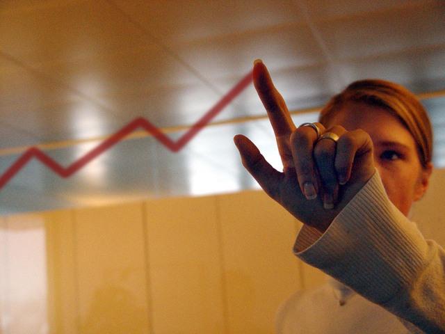 Augmentation de la courbe des ventes